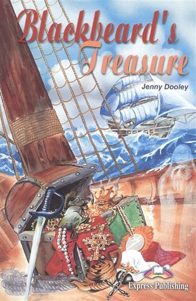 Dooley J. Blackbeard`s Treasure. Reader. Книга для чтения contrast pocket long sleeve tie dye design button down shirt