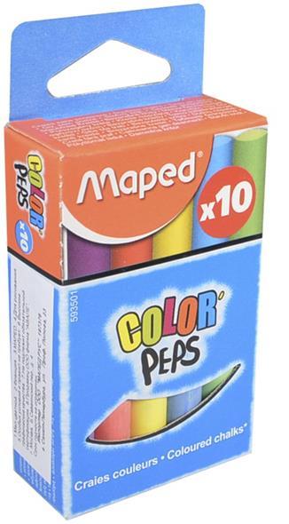 Мелки цветные круглые, 10 шт., Maped