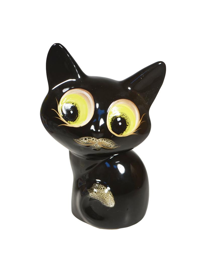 """Копилка """"Черный кот керамика"""""""