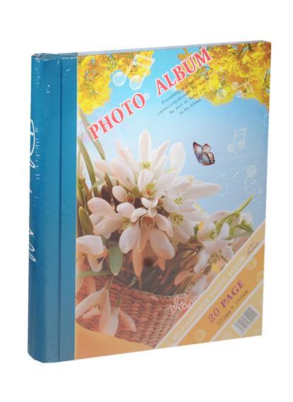 Фотоальбом магнитный 10 листов Подснежники (24х29)