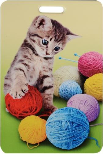 """Чехол для карточек """"Котенок и разноцветные клубки"""""""