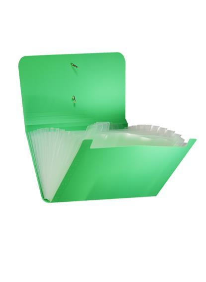 Папка на резинке CHEQUE 12отд., пластик, ассорти