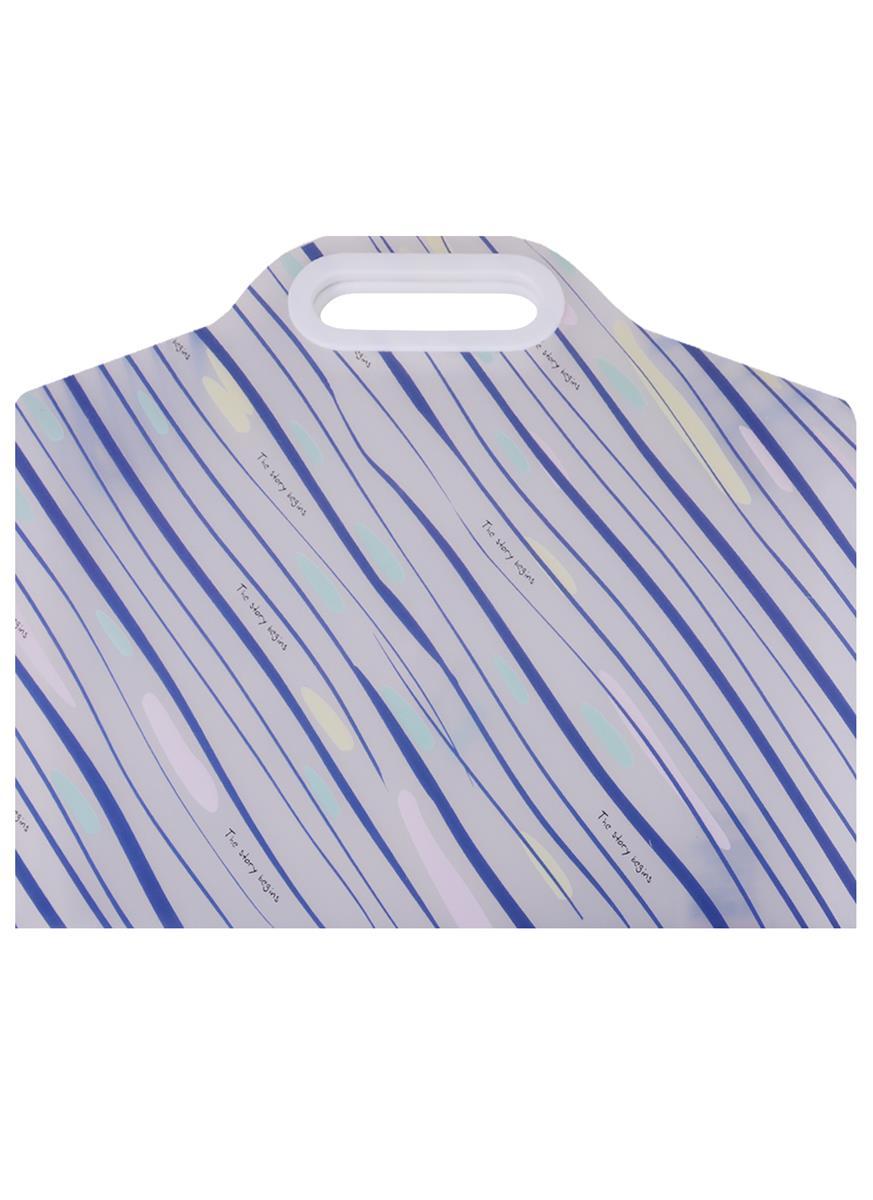 """Папка-портфель на двух кнопках """"Stripes and drops"""" А4"""