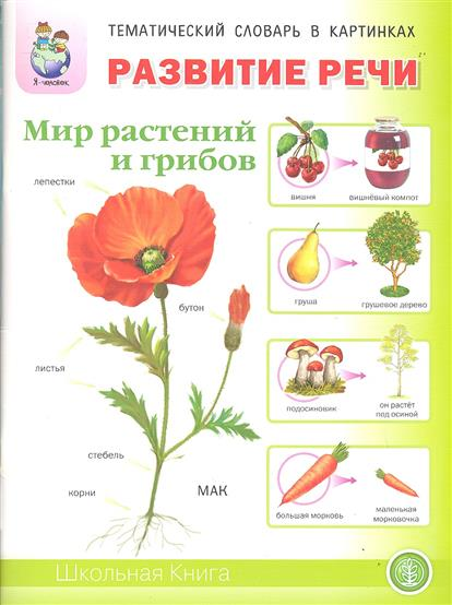 Развитие речи. Мир растений и грибов. Фрукты. Овощи. Ягоды. Грибы. Цветы. Деревья. Для занятий с детьми 5-7 лет
