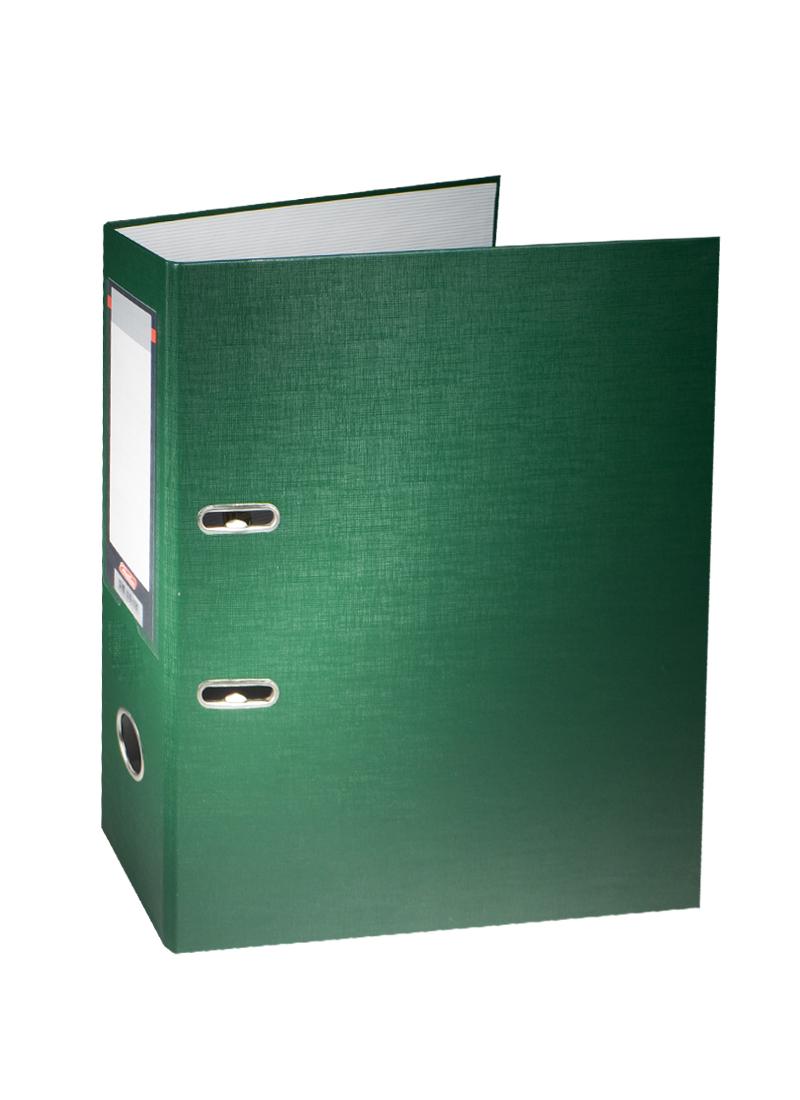 Папка архивная А4, 70 мм, темно-зеленая, Hatber