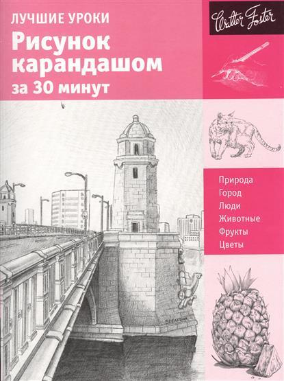 Лучшие уроки. Рисунок карандашом за 30 минут. Природа. Город. Люди. Животные. Фрукты. Цветы
