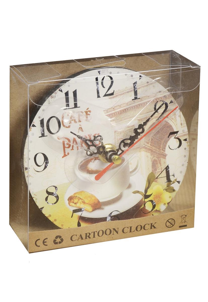 Часы настольные Парижское кафе (12 см) (ПВХ бокс)
