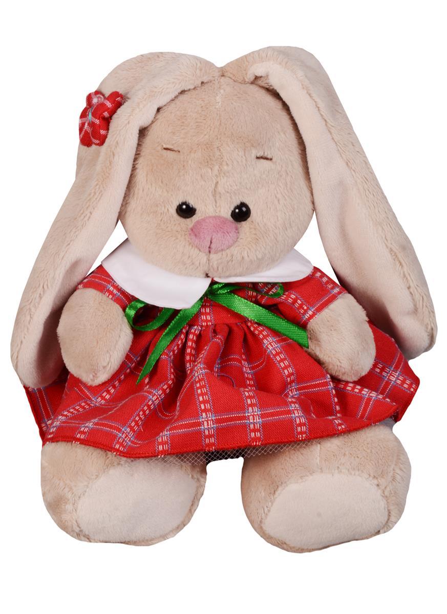 Мягкая игрушка Зайка Ми в красном платье в клетку (15 см)