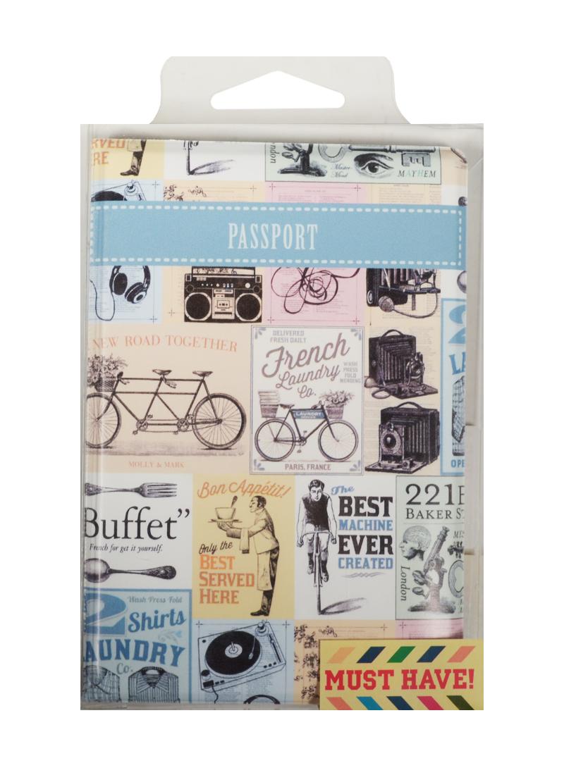 Обложка для паспорта Старинная реклама (ПВХ бокс)