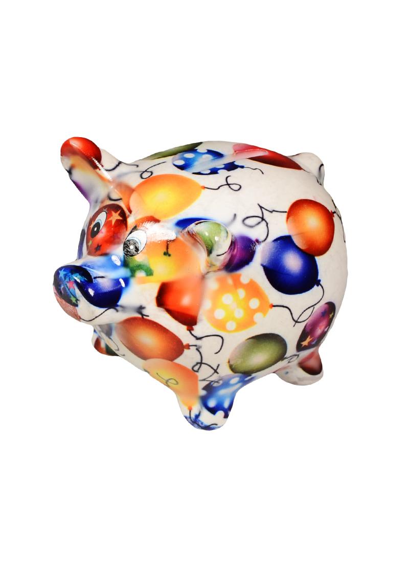 Копилка Свинка узор шарики малая (9х12) (керамика)