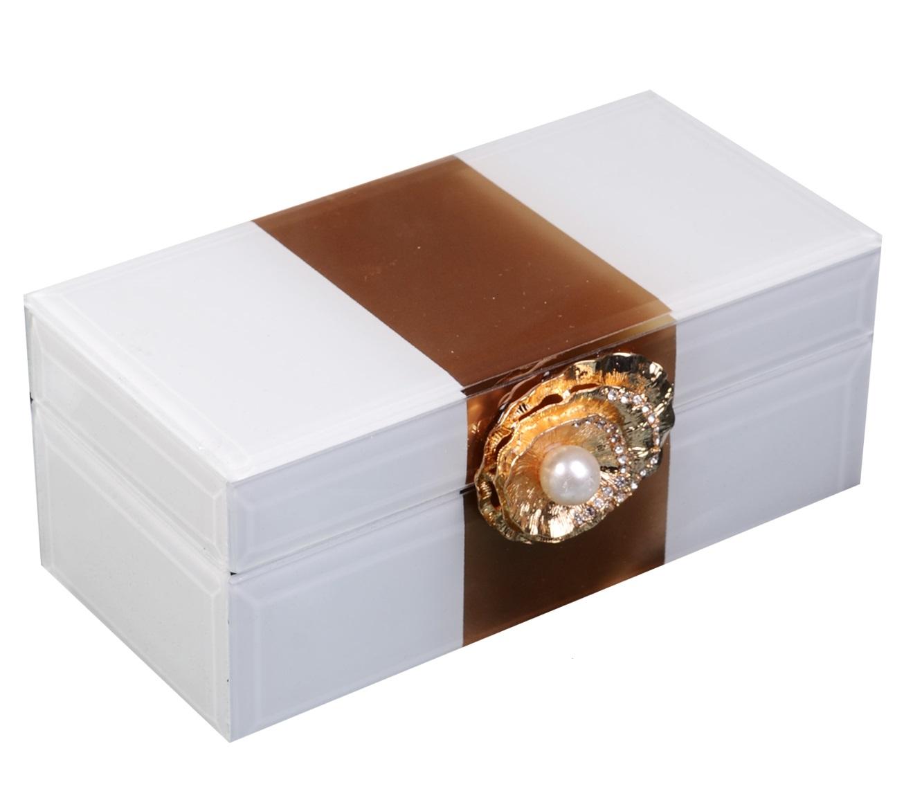 Шкатулка стекло Жемчужина (15x8x7)