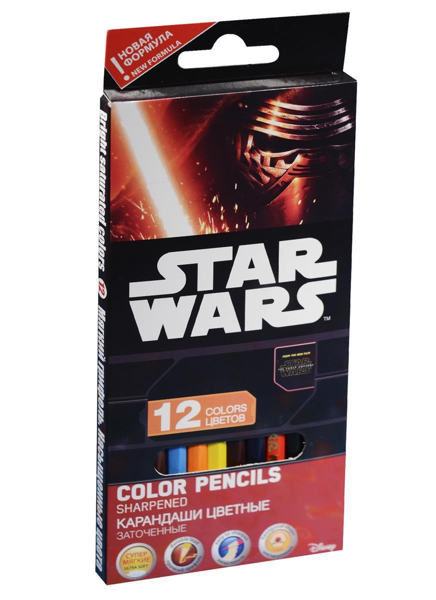 """Карандаши цветные 12цв """"Star Wars"""", к/к, европодвес, Star Wars"""