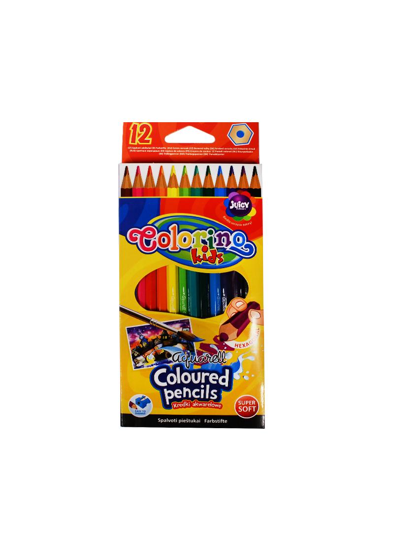 Карандаши цветные 12цв Акварельные