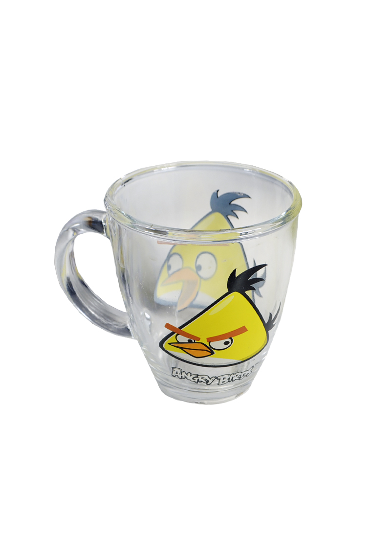 Angry Birds стеклянная кружка в коробке (желтая) (300мл) (СР Дистрибуция)