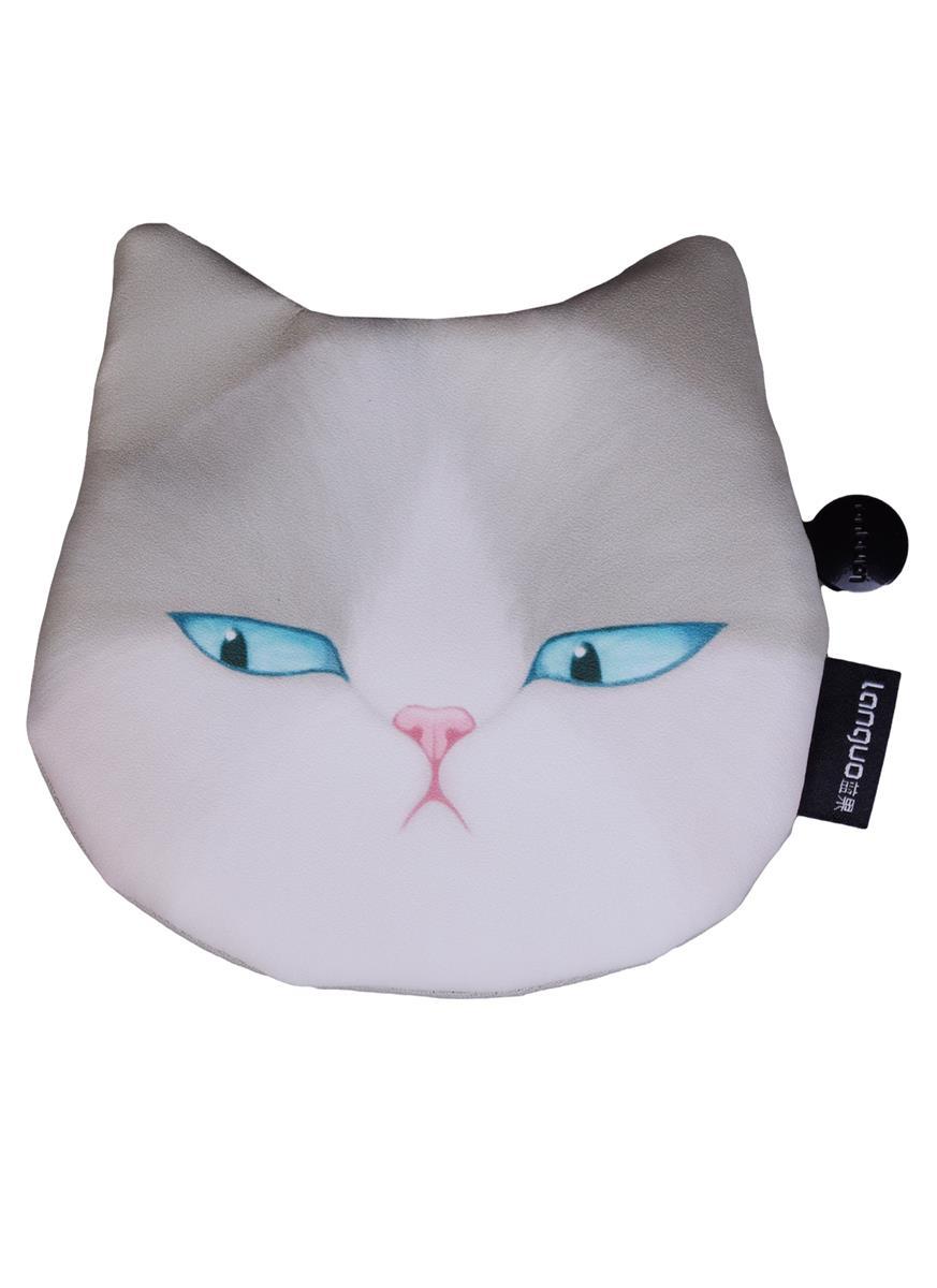 Кошелек на молнии Кошка (ПВХ) (13х12)
