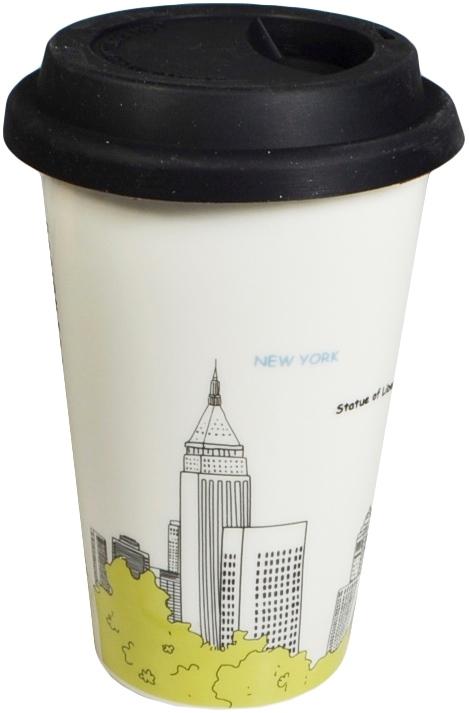 Термостакан Нью-Йорк в пластиковой упаковке (115-2)