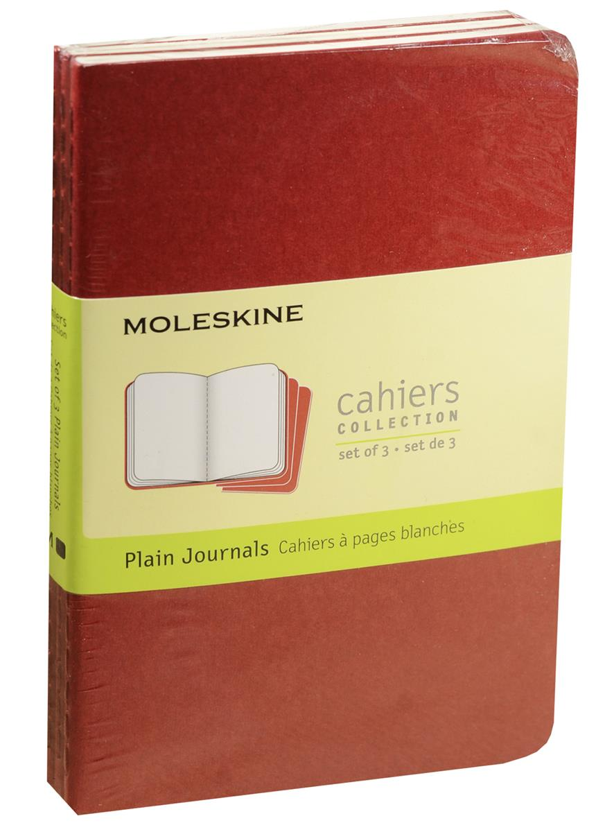 """Записная книжка А6 32л нелин. """"Cahier Journal Pocket"""" (3шт.) клюквенная, обложка картон, Moleskine"""