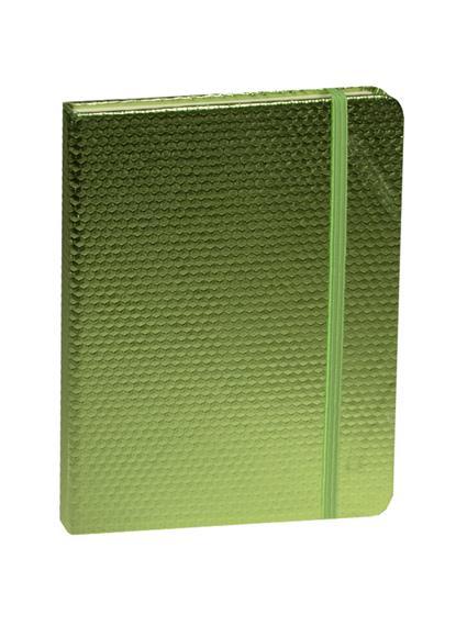 """Книга для записей А5 80л кл. """"Зеленый неон"""" на резинке"""