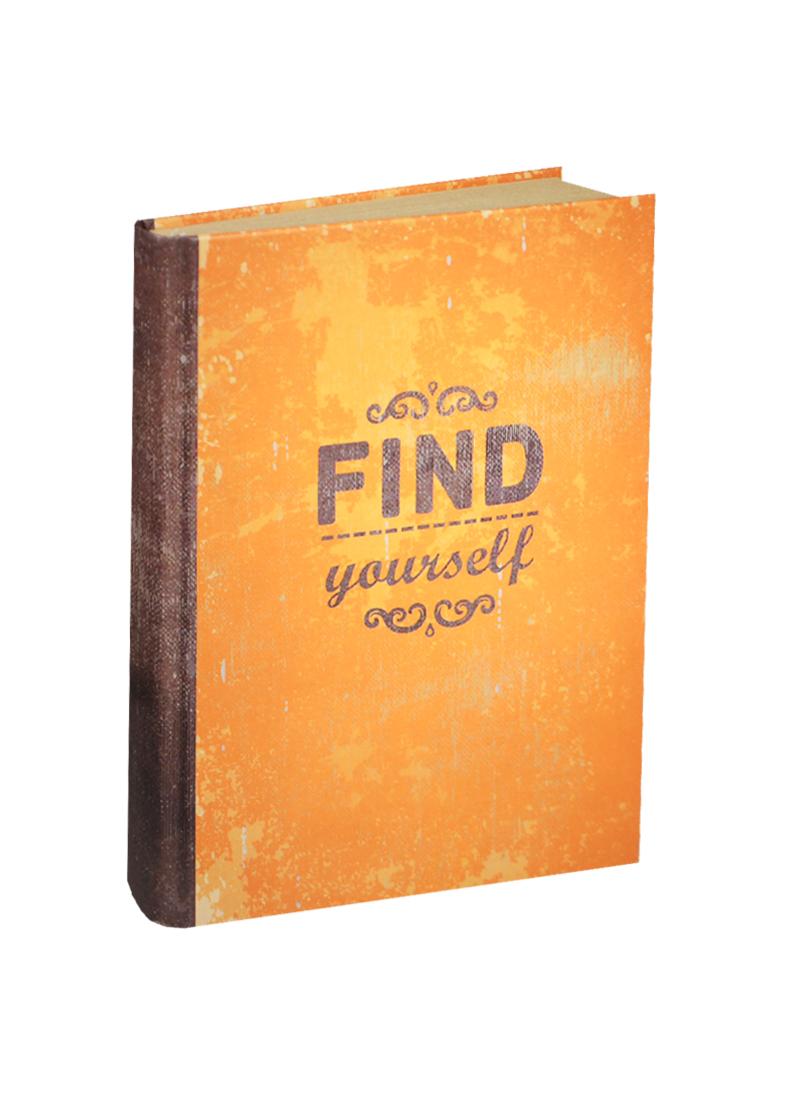 Блокнот Find yourself (крафт) Бумага крафт, картон, 192 стр. (БТ2014-070)