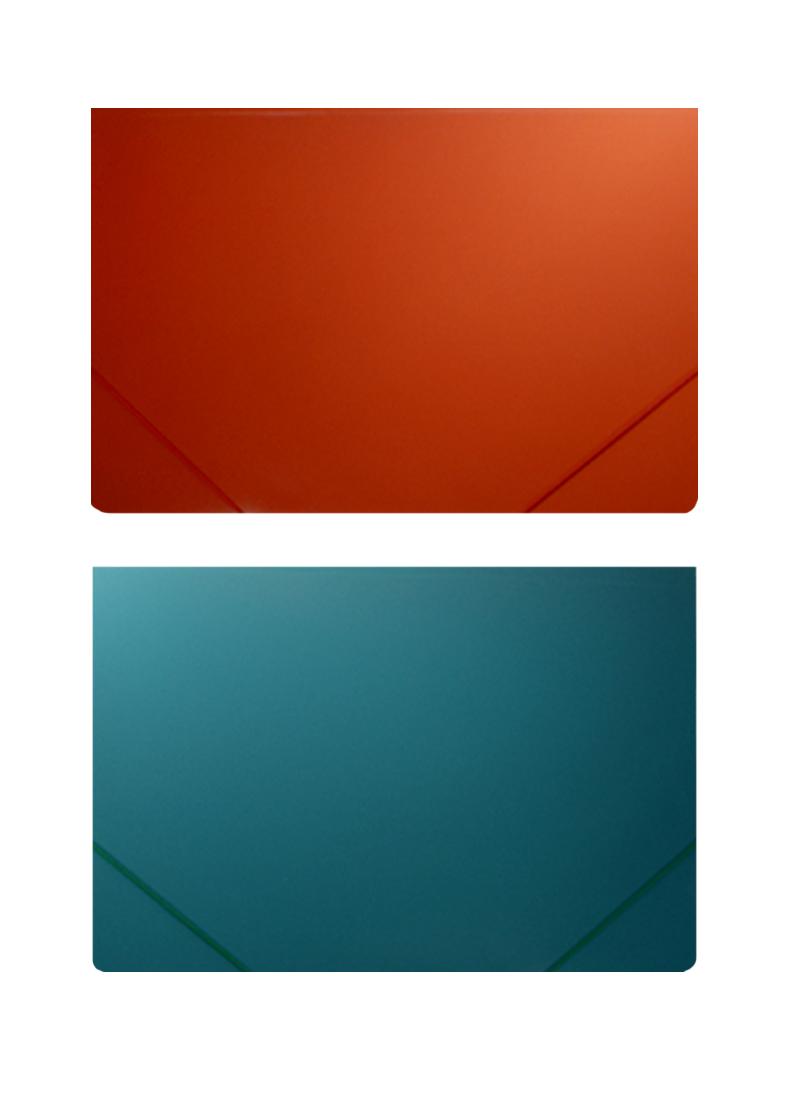Папка на резинке А3, пластик 0,5мм, ассорти, Бюрократ