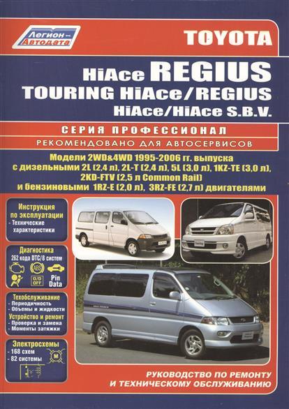 Toyota HiAce / Regius / HiAce SBV. Модели 2WD&4WD 1995-2006 гг. выпуска с дизельными 2L (2,4 л.), 2L-T (2,4 л.)… Руководство по ремонту и техническому обслуживанию автомобилей. toyota hiace regius асе модели 2wd