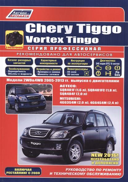 Chery Tiggo. Vortex Tingo в фотографиях. Модели 2WD&4WD 2005-2013 гг. выпуска с бензиновыми двигателями: ACTECO: SQR481F (1,6 л.), SQR481FC (1,8 л.), SQR484F (2,0 л.) и MITSUBISHI 4G63S4M (2,0 л.), 4G64S4M (2,4 л.). Включая рестайлинг с 2008 года