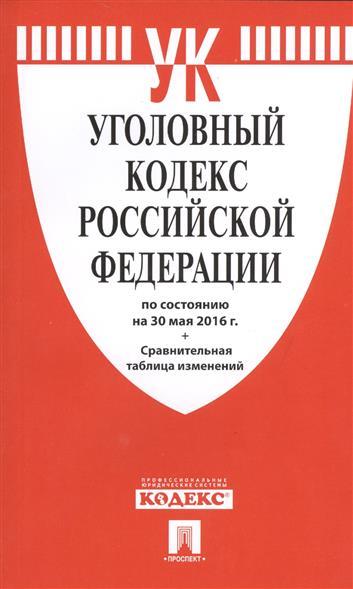 Уголовный кодекс Российской Федерации по состоянию на 30 мая 2016 г. Сравнительная таблица изменений