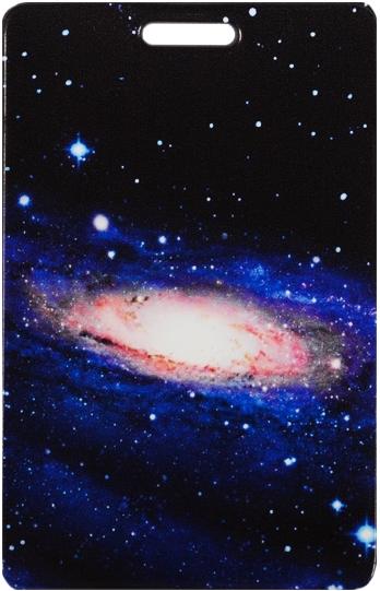 """Чехол для карточек """"Космос. Туманность на черном фоне"""""""