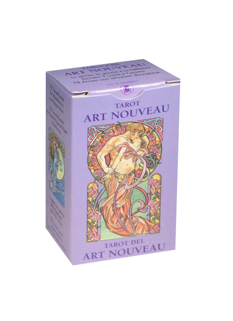 Мини Таро Галерея (Mini Tarot Art Nouveau) (на 5 языках: английский, итальянский, испанский, французский, немецкий) (MD01) (Аввалон) tarot art nouveau таро галерея в футляре улучшенная твердая бумага