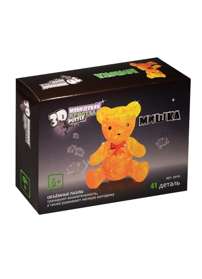 3D Crystal Puzzle  Медвежонок (41 деталь) (9016)