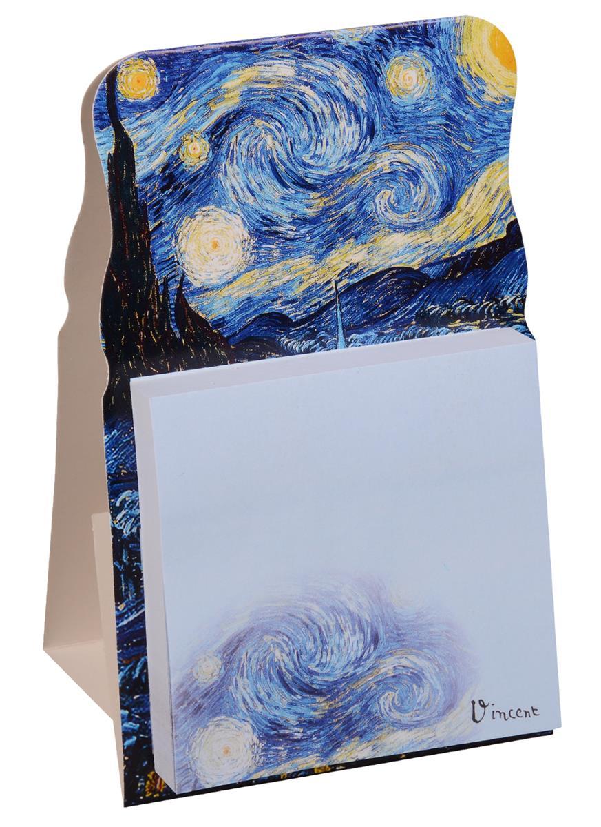 """Блок бумаги 70*70мм самоклеящийся """"Ван Гог. Звездная ночь"""""""