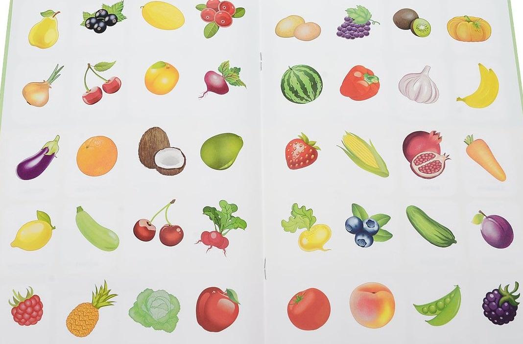 Зверькова Ю. (сост.) Овощи, фрукты, ягоды. Учебные наклейки
