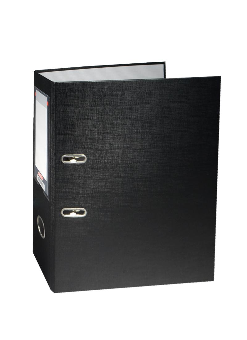 Папка архивная А4, 70 мм, черная, Hatber