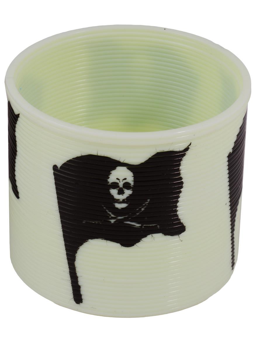 Головоломка Пружинка Пиратский флаг (белая) (7,5х6,5см) (коробка)