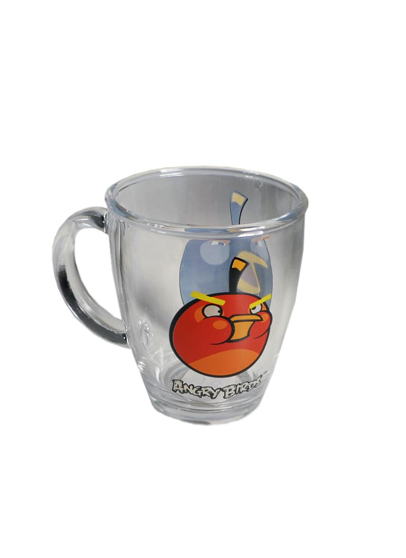 Angry Birds стеклянная кружка в коробке (черная) (300мл) (СР Дистрибуция)