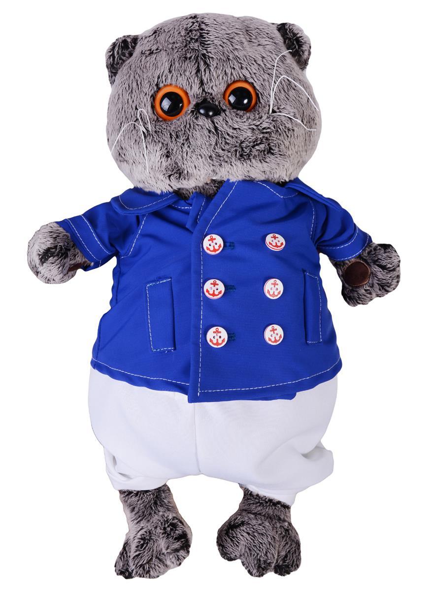 Мягкая игрушка Басик в синем кителе (30 см)