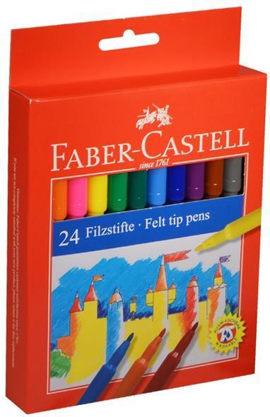 """Фломастеры """"Замок"""", 24 цв., Faber-Castell"""