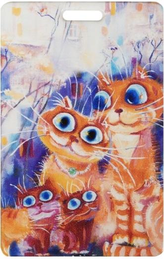 "Чехол для карточек ""Cat in the City: Дружная семья"""
