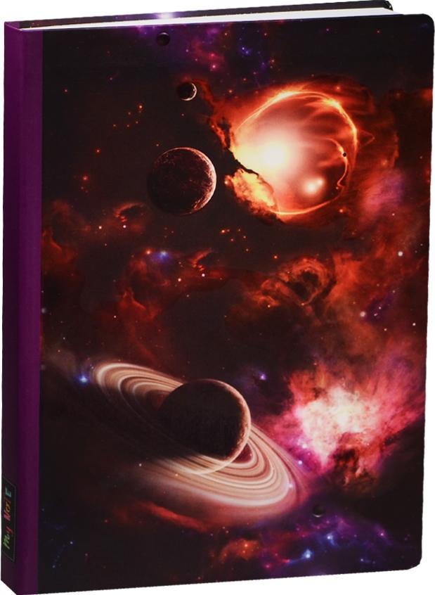 Блокнот Космос Планеты на красном фоне