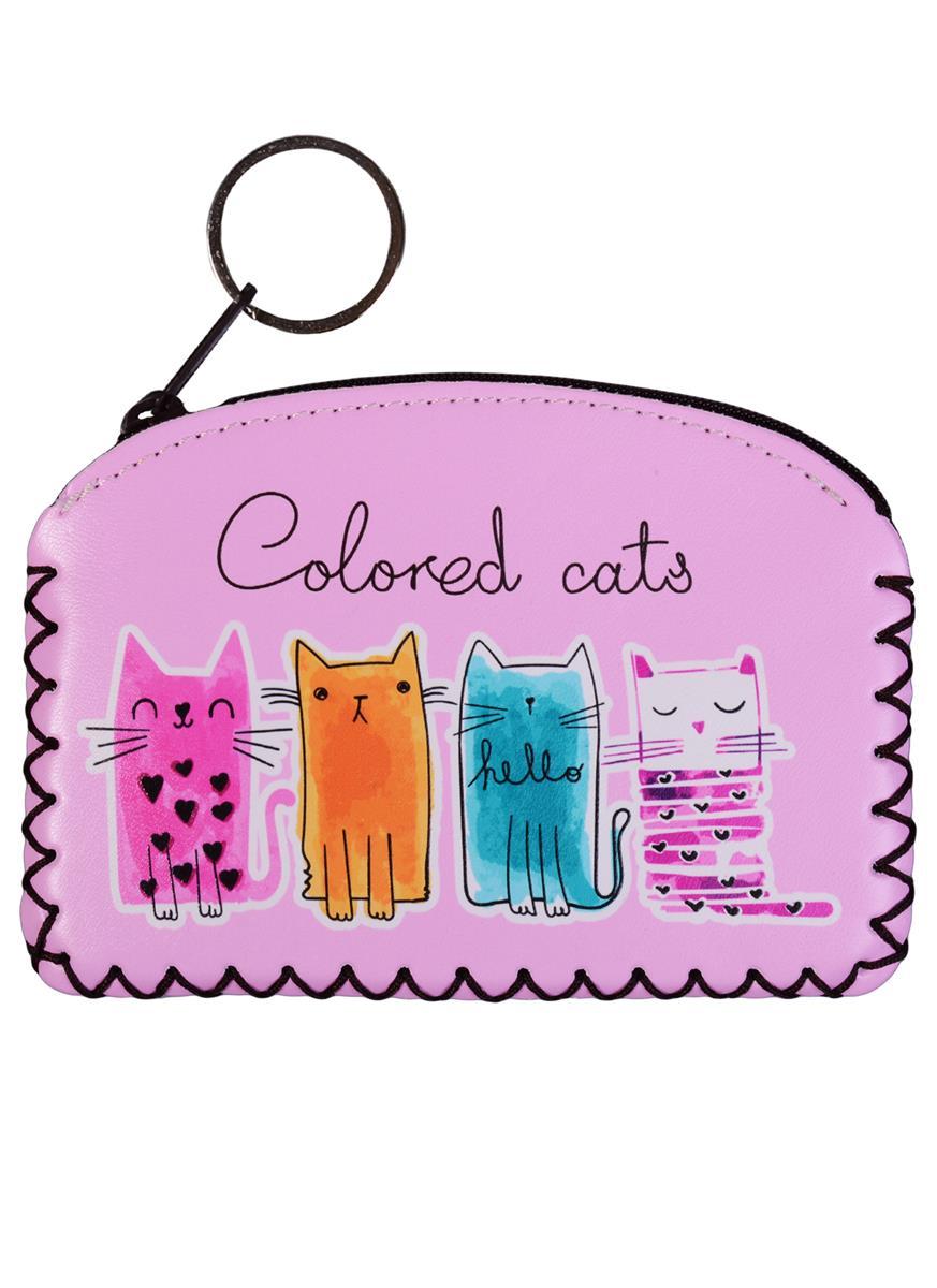 """Кошелек на молнии """"Colored Cats"""""""