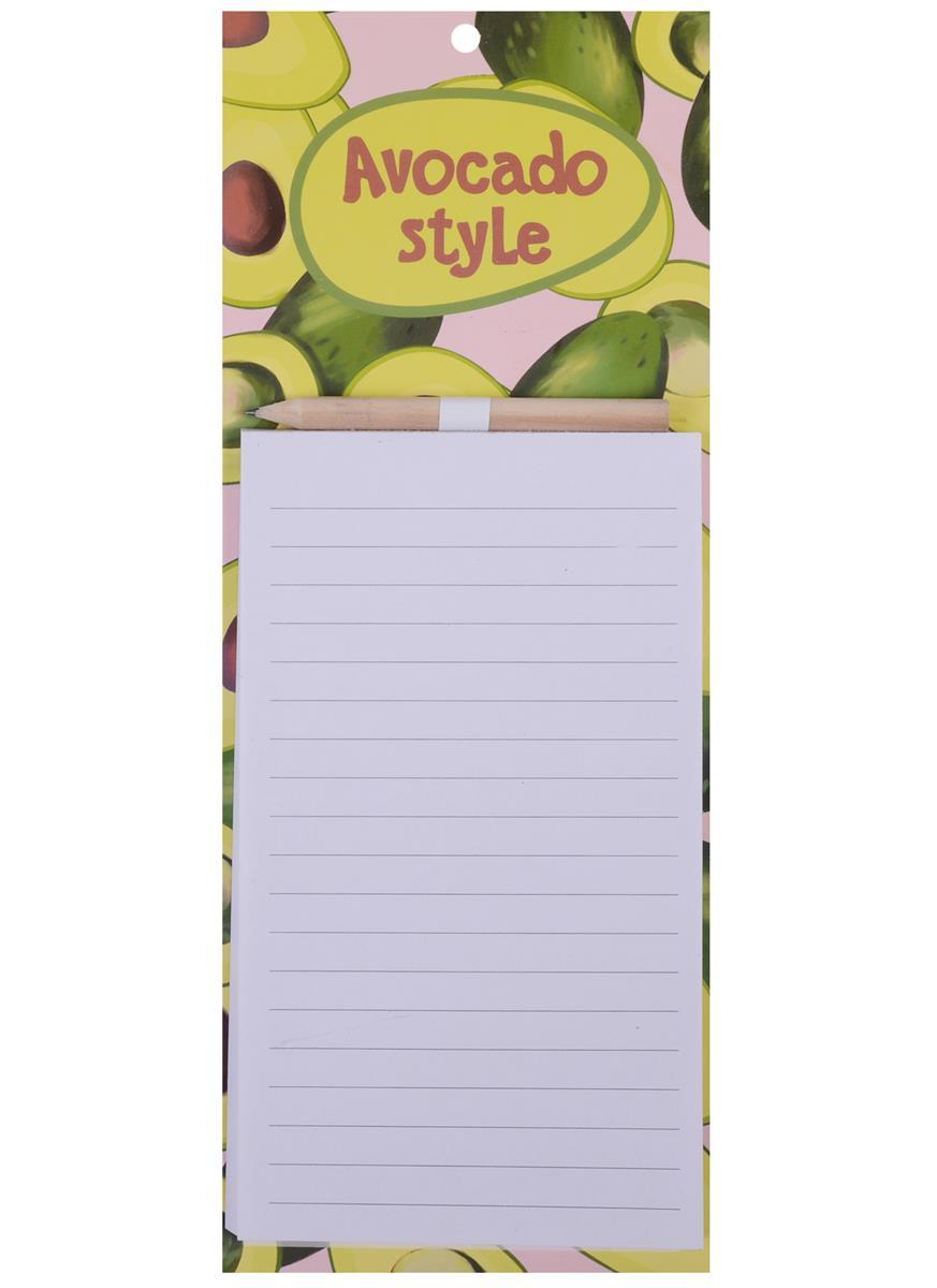 """Блок для записей с карандашом 40 листов """"Авокадо"""""""