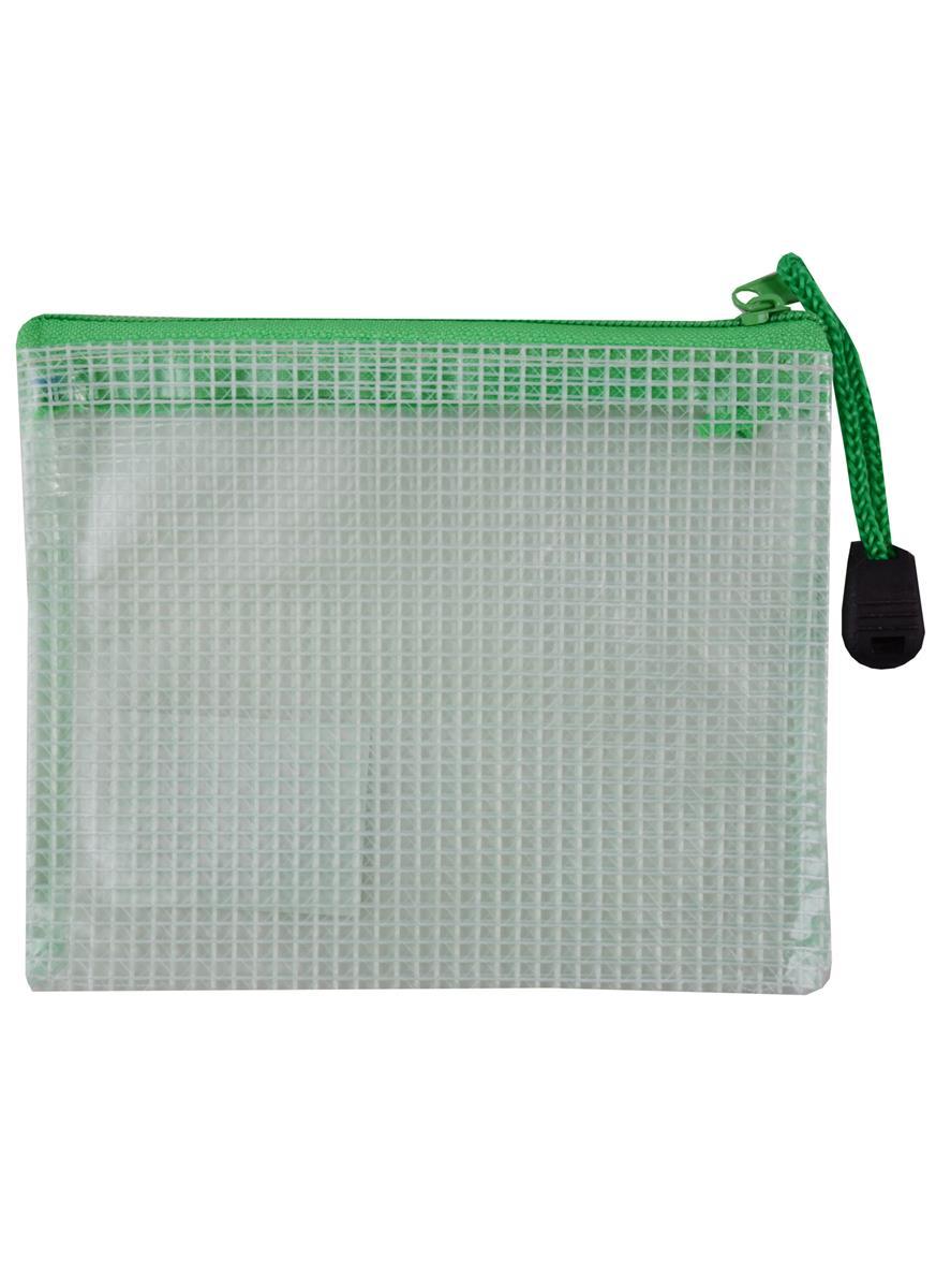 Папка на молнии B8 (10*12,5см), армированный пластик, ассорти, Tramix