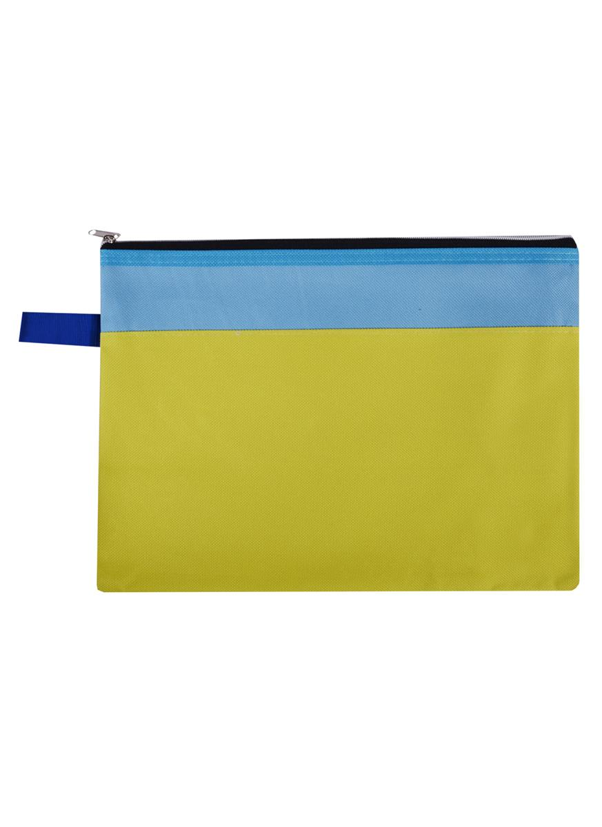 Папка на молнии В5 текстиль, двухцветная