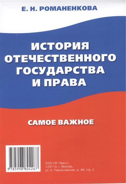 История отечественного государства и права. Самое важное