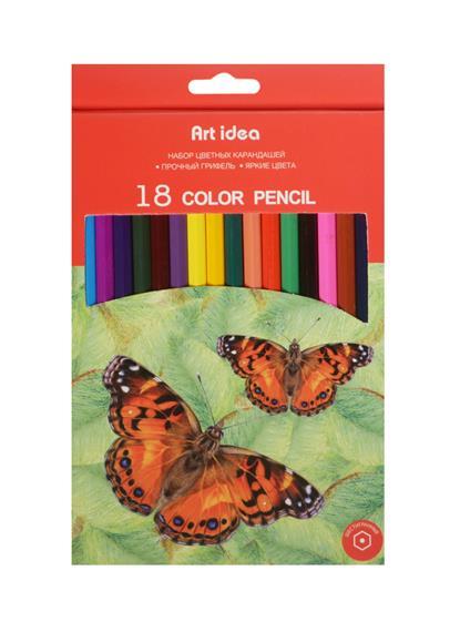 Карандаши цветные 18цв к/к, подвес, Art idea