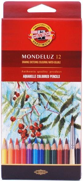 Карандаши акварельные Mondeluz, 12 цв., Koh-i-Noor