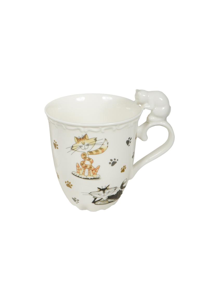 Кружка Кошки с фигурной ручкой в подарочной упаковке (400мл) (359-264) (Авангард)