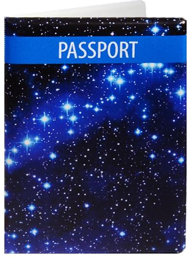 """Обложка для паспорта """"Космос. Звезды на синем фоне"""""""
