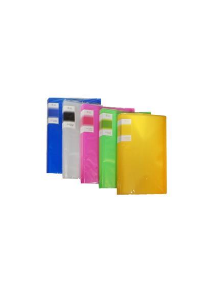 Папка 40ф А4 пластик, ассорти, Tramix