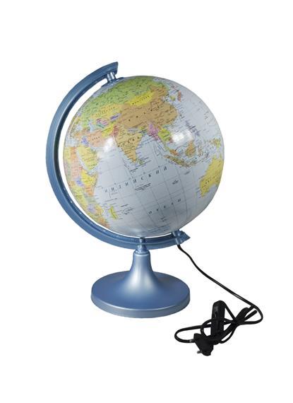 Глобус D25см физико-политический, с подсветой, GLOWALA